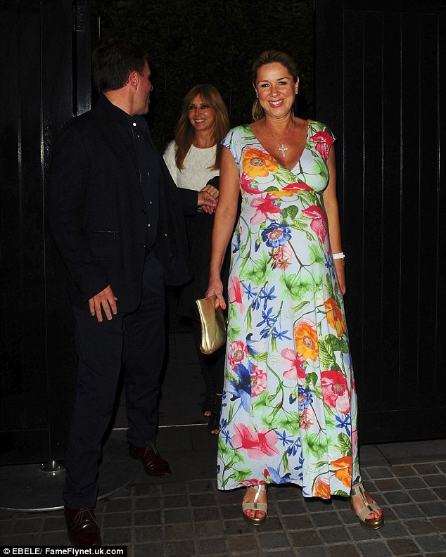 Blossoming: Actress Claire wore a floral maxi dress as she stepped out at the celebrity hot-spot