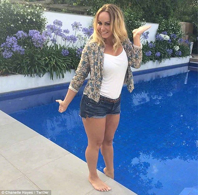 Bunny boiler: Chanelle Hayes has hit out at Kelly Brook, calling her a 'bunny boiler' following her split with David McIntosh