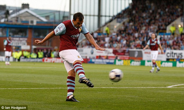 Previous form: Robbie Blake's volley for Burnley sealed a famous 1-0 win over Manchester United in the sides' only previous Premier League Turf Moor meeting at the start of the 2009-10 season