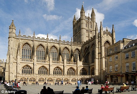 Mr Silver visited the iconic Bath Abbey (Above) in the South West as part of the project and also travelled to nearby Wells, Glastonbury and Bristol city centre