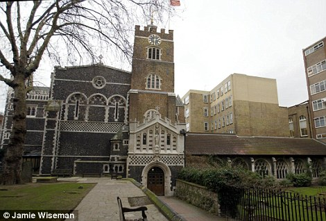 The Priory Church of St Bartholomew in West Smithfield, London was among more than half a dozen churches visited in the capital by Mr Silver during his lengthy project