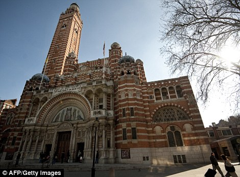 The Chapel of St Gregory and St Augustine  (of which Mr Silver photographed the interior, above right) is situated in Westminster Cathedral, central London (pictured)