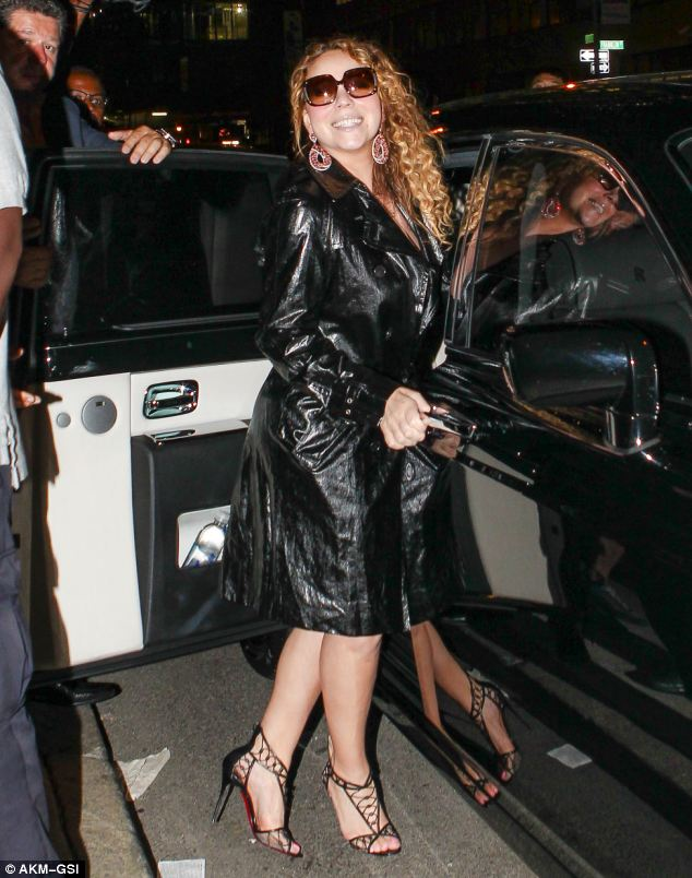The diva's back: Mariah looked happier than ever, despite recently confirming that she had separated from husband Nick Cannon
