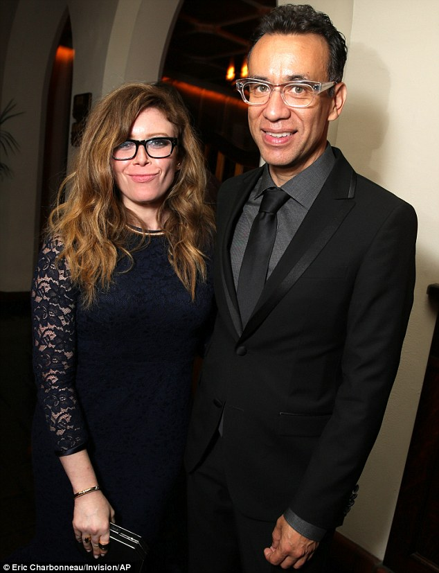 Right said Fred: Armeson is said to have gave in to Natasha Lyonne's advances at a post Emmys bash in Hollywood on Monday