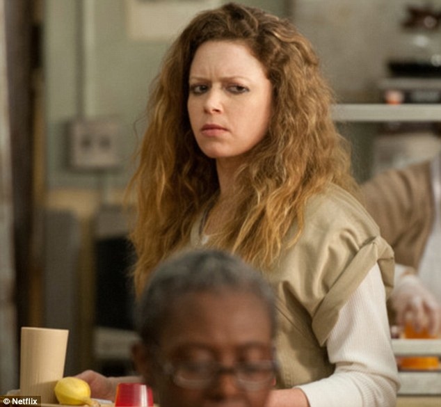 Star turn: She plays rich kid turned drug addict Nicky Nichols in Orange Is The New Black