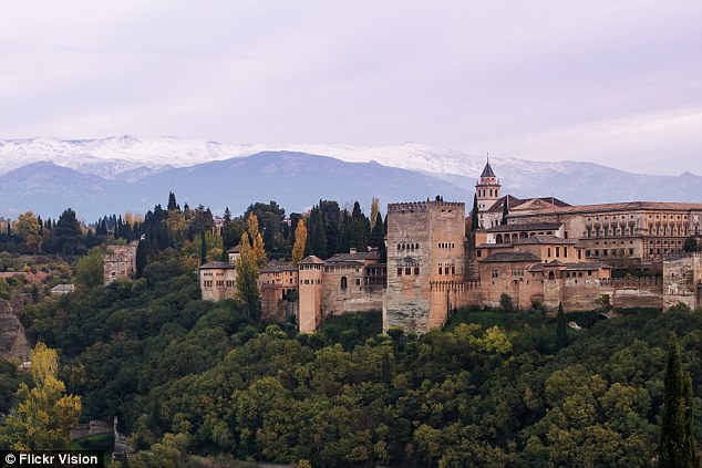 Holiday mistake: Mr Edward Gamson always wanted to visit Alhambra Palace in Granada, Spain, but he was sent to Grenada in the Caribbean