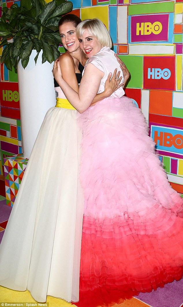 Couture heaven: Allison and Lena Dunham both wore Giambattista Valli gowns