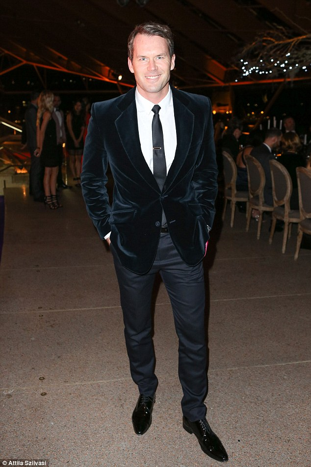 Statement: Tom Williams smartened up in a velvet jacket at the whiskey event on Thursday night