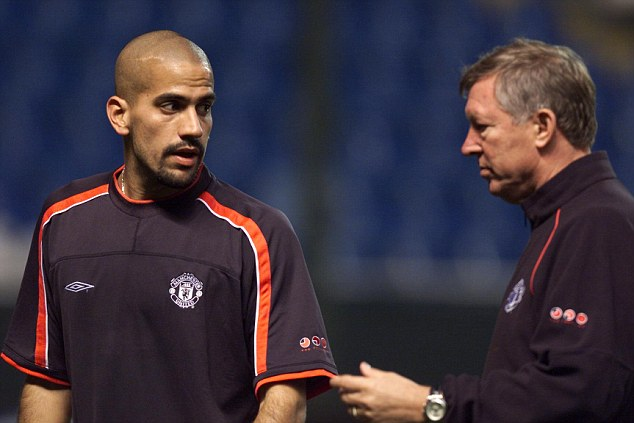 Clash: Sir Alex Ferguson wrote in his autobiography of difficulties managing Argentine players such as Juan Sebastian Veron, who spent two seasons at Manchester United between 2001 and 2003