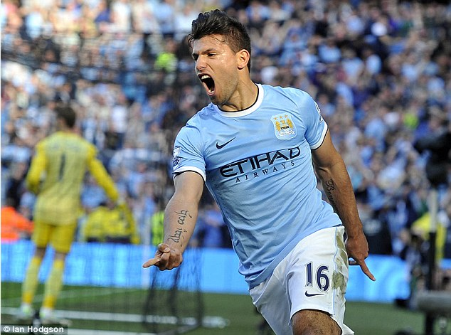 Success story: Argentine Sergio Aguero has been a smash hit at Manchester City