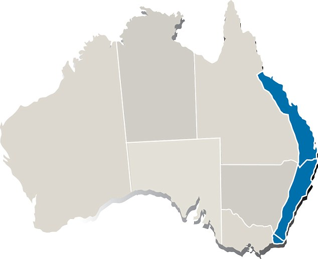 Map (pictured) shows deadly paralysis tick zones Australia.82 per cent of dog owners who live in paralysis tick zones are not treating correctly to protect their dogs from the deadly paralysis ticks