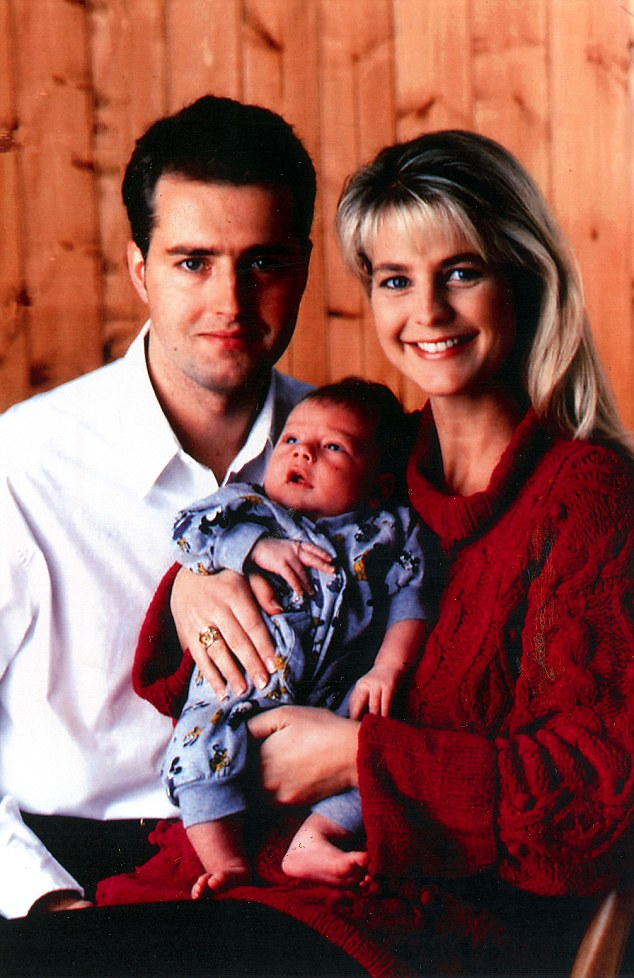Ulrika with her first husband John Turnbull and their son Cameron in 1994