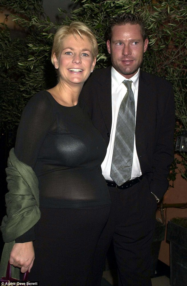 A heavily-pregnant Ulrika Jonsson at party in London in November, 2000 with her then boyfriend Marcus Kempen. He left her shortly after she gave birth to their daughter Bo a month later