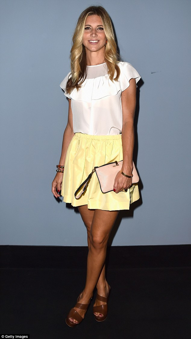 Little miss sunshine: Italian TV star Nicoletta Romanoff was also in attendance at the premiere