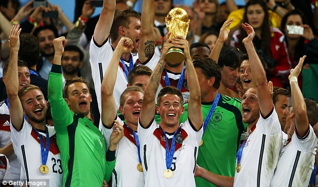 Champions: England will play World Champions Germany as part of their build-up to Euro 2016