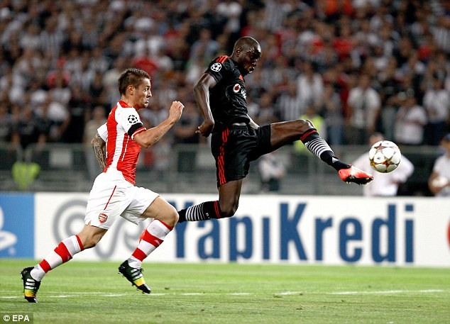 Top Guns: Demba Ba (R) has revealed that he longed to join London rivals Arsenal after leaving Chelsea