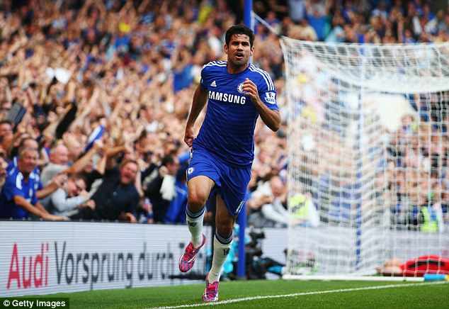 Scare: There are doubts over Diego Costa's fitness after £32m striker suffered muscle strain in training