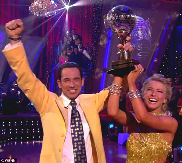 Already a champion: The Brazilian IndyCar hopeful's snakehips came in handy as they emerged victorious on Dancing With The Stars on 2007
