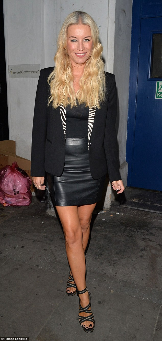 Dressed to impress: The actress wowed onlookers as she made her way out of the Arts Theatre in London