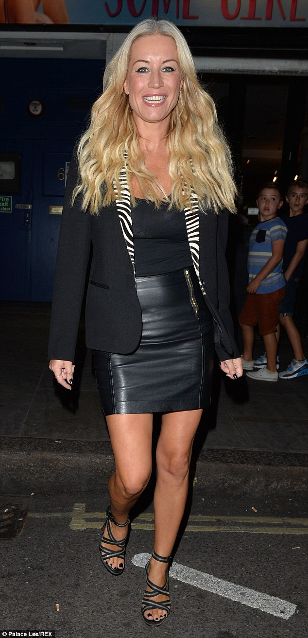 It went well, then? Denise van Outen was beaming after her performance in her one-woman show Some Girl I Used To Know