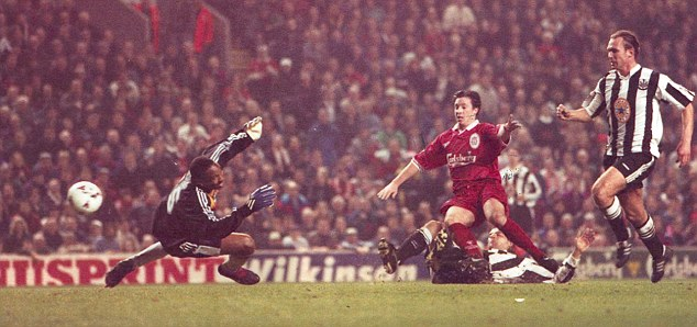 Hot shot: Robbie Fowler, like Rush, had two spells as a Liverpool player
