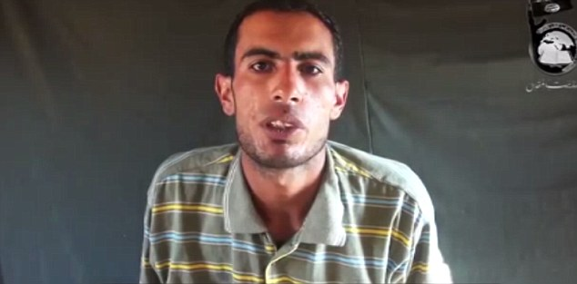 In the video, militant group Ansar Bayt al-Maqdis presented what it said were confessions by the men