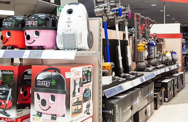 Boom: Powerful vacuum cleaners are flying off the shelves of some retailers ahead of the EU ban