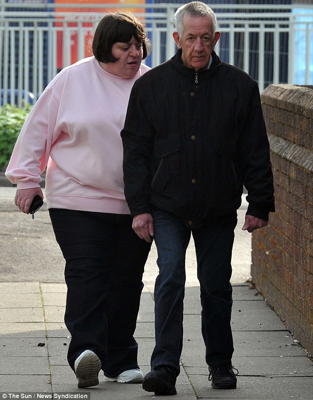 Julie Griffiths (pictured left), dubbed nagsbo for repeatedly shouting at her husband Norman (right), was arrested for allegedly assaulting her 64-year-old other half, it has been revealed