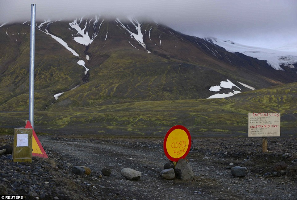 Rumbling: The rumblings at Iceland's largest volcano system, which is covered by a several hundred meters thick glacier, have raised worries of an eruption that could spell trouble for air travel