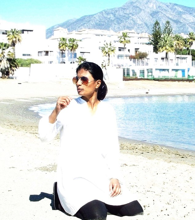 Tragic: Dr Uma Ramalingam a consultant obstetrician from Altrincham in Cheshire, drowned at the Playa Paraiso resort, Tenerife after trying to rescue two children from a succession of freak waves