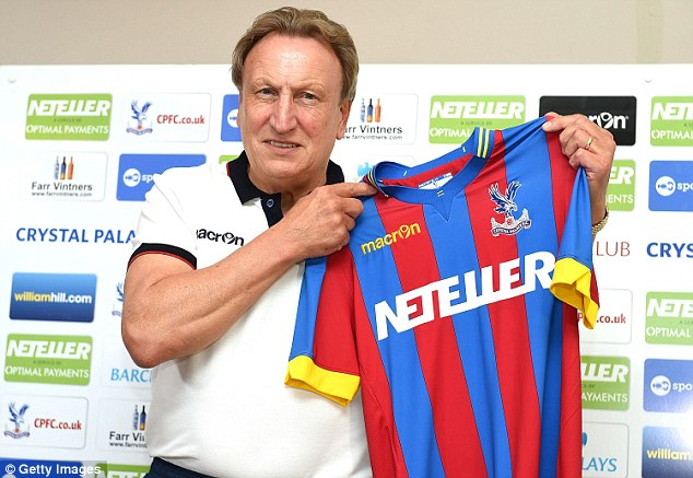 New boss:  Warnock was confirmed as the new Crystal Palace boss on Thursday after leaving the club in 2010