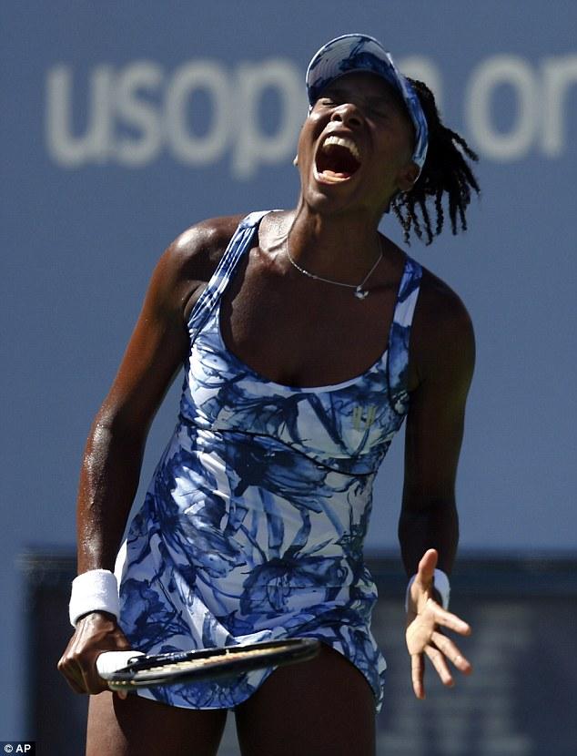 Anguish: Venus Williams served for the match against Sara Errani before losing