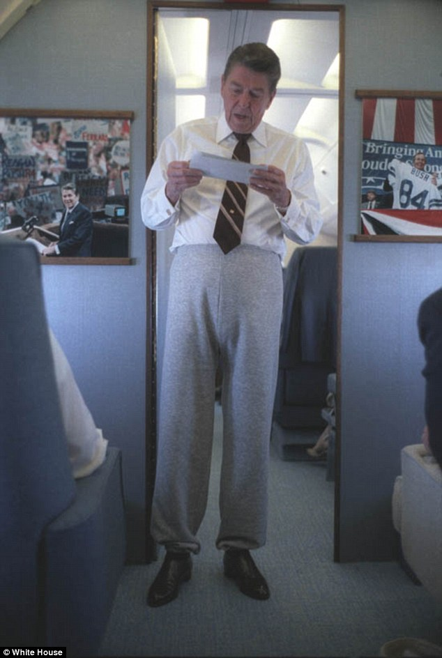 Clear winner: If you are going to be taken seriously as a sweatpants-wearing president, you have to wear them right - yanked up as high as far as they will travel, with heavily elasticated cuffs