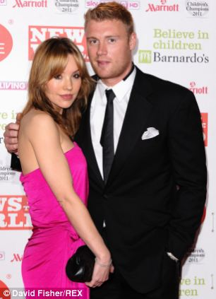 Freddie Flintoff pictured with his wife Rachael at the Children's Champions Awards