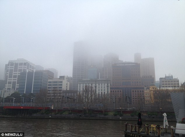Poor visibility: Melbourne's CBD, shown here on August 16, has been experiencing 'a very unusual weather pattern'