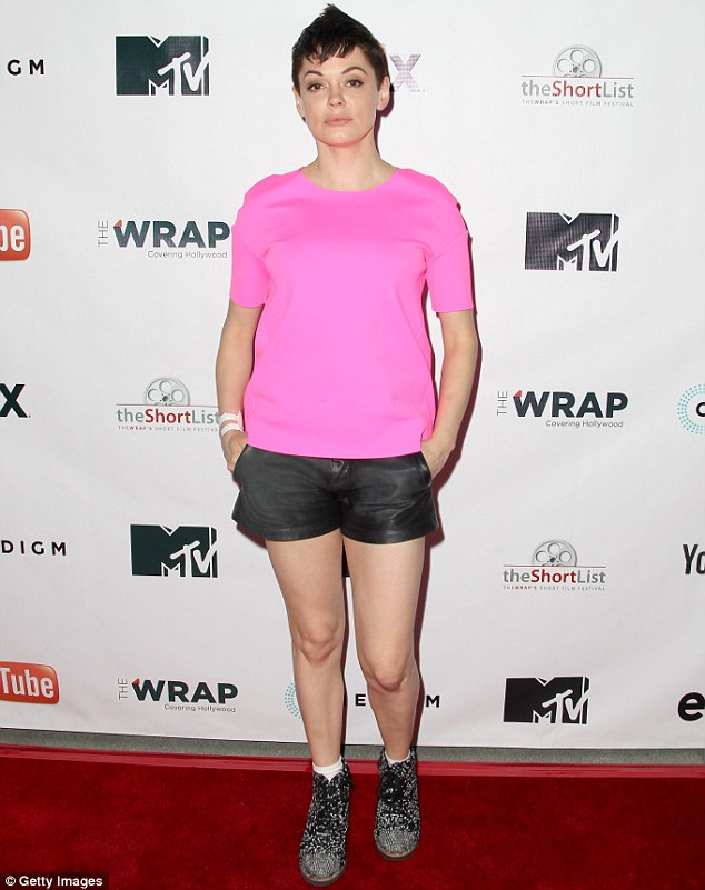 Awards presenter: Rose handed out awards at the event held at the YouTube Space LA