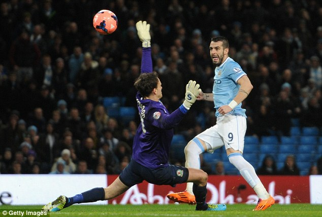 'Very important': Negredo made an excellent start to his time at Manchester City last season