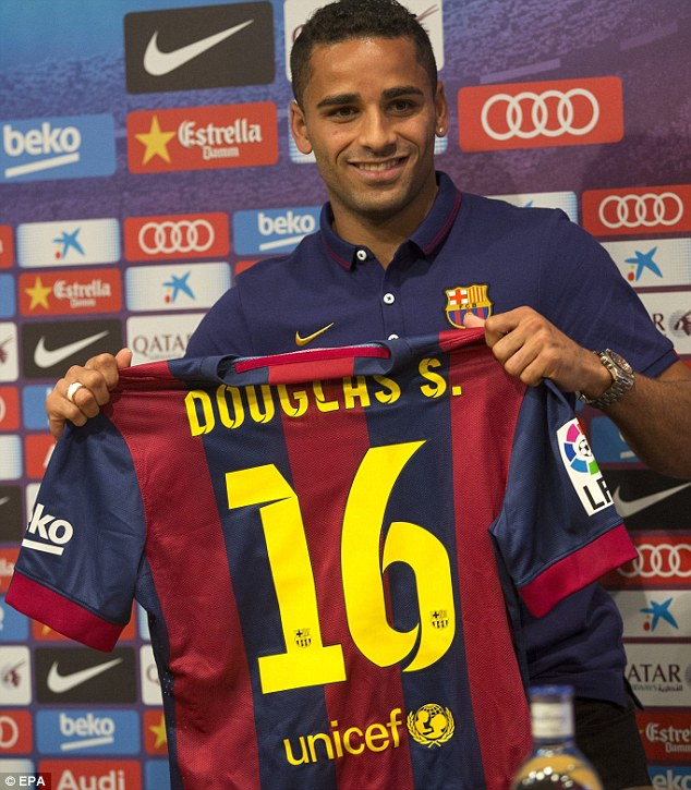 Dream come true: Douglas says joining Barcelona represents a high point in his career