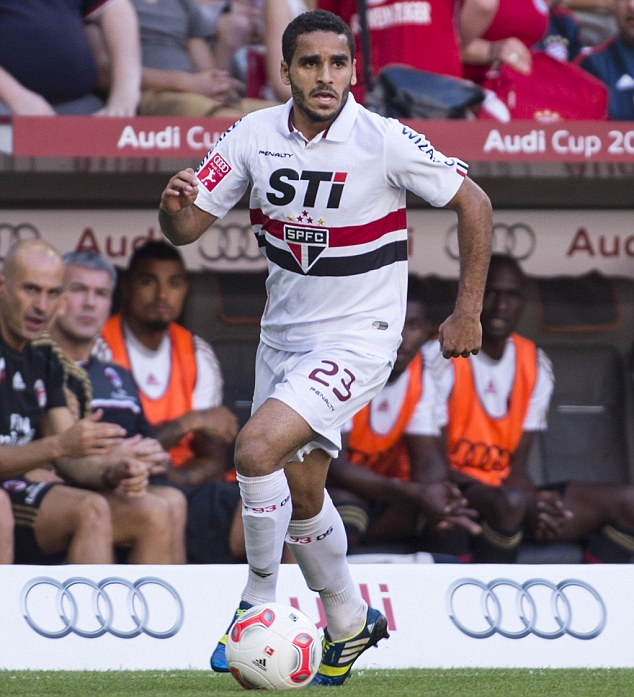 Learning curve: Douglas acknowledges that life in Spain will be very different to the Brazilian league