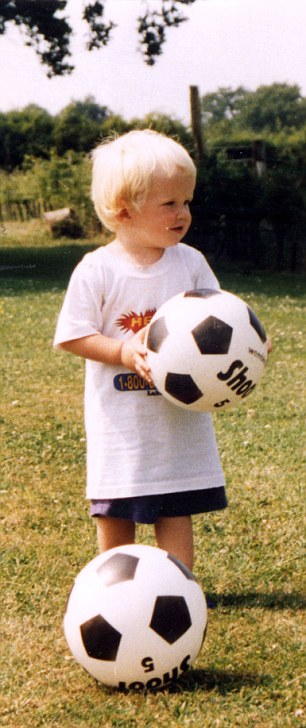 Baby face: Eric Dier as a toddler before his move to Portugal