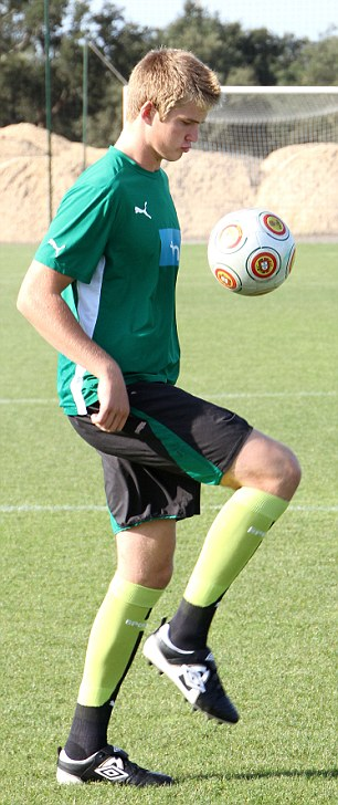 Teenage kicks: Eric Dier as a 16-year-old with Sporting Lisbon