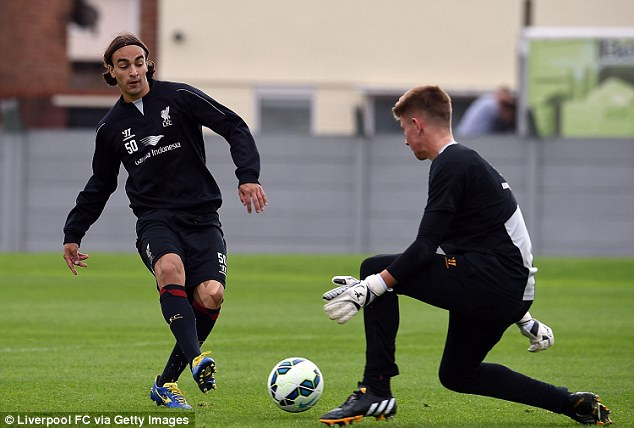Familiar faces: Eri Dier will come up against Lazar Markovic (L) again when Spurs face Liverpool