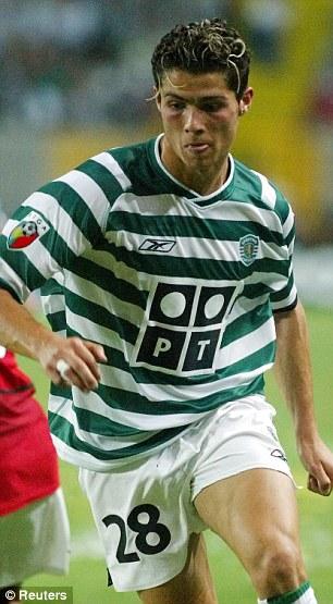 Road to stardom: Cristiano Ronaldo stared his career as Sporting Lisbon