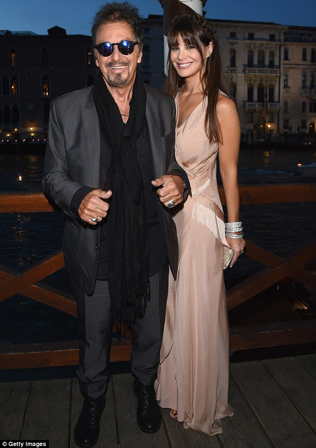 Happy couple: Al Pacino. 74, and his 35-year-old girlfriend Lucila Sola were quite the dashing couple as they arrived at the 71st Venice International Film Festival on Friday night