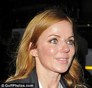 Fresh-faced: Geri looked thrilled to be getting to see her idol in action