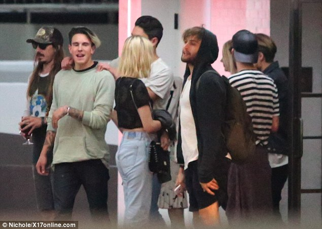 Party time: The pair are believed to have grown apart when filming ended and Miley became engaged to her ex-fiance Liam Hemsworth