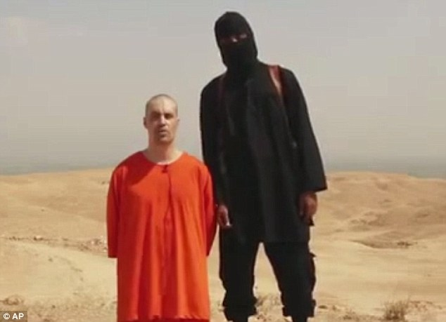 Execution: Abu Ubaida was once in charge of a prison where American journalist James Foley and other Western hostages were held. Above, Mr Foley is pictured in a sickening video that captured his execution