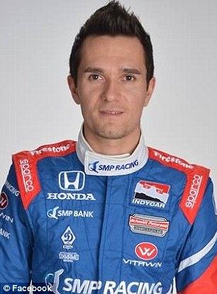 Rookie IndyCar driver Mikhail Aleshin was hospitalized in serious but stable condition Friday night after a frightening crash i
