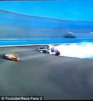 Aleshin spun when he went below the white line in the turn,
