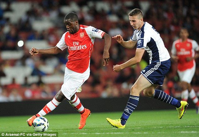 No go: Arsenal manager Arsene Wenger insists striker Joel Campbell will not leave the club on loan this year